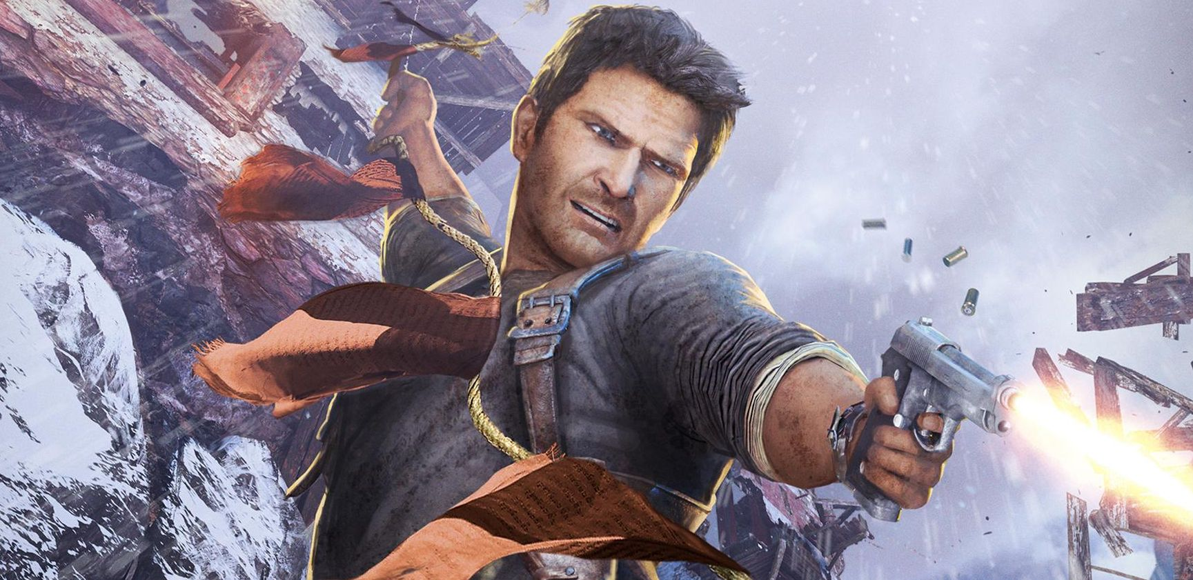 Nathan Drake in the Uncharted series