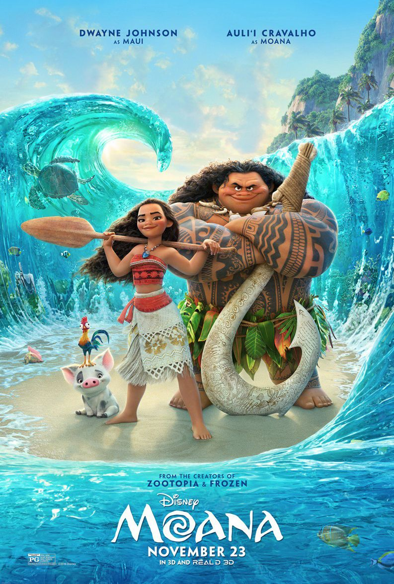 An inviting and colourful new poster for Disney's 'Moana' re