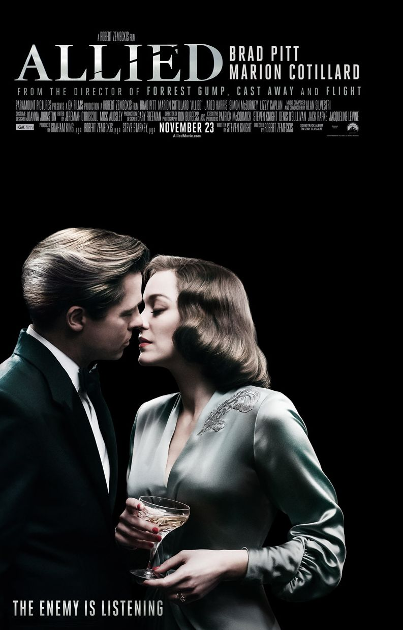 Check out the gorgeous new poster for Brad Pitt and Marion C