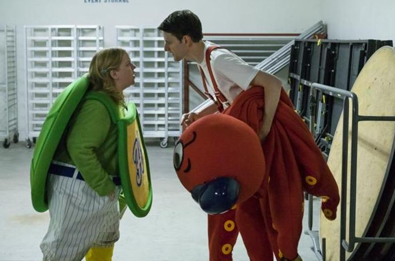 """Sarah Baker and Zach Woods in """"Mascots"""""""