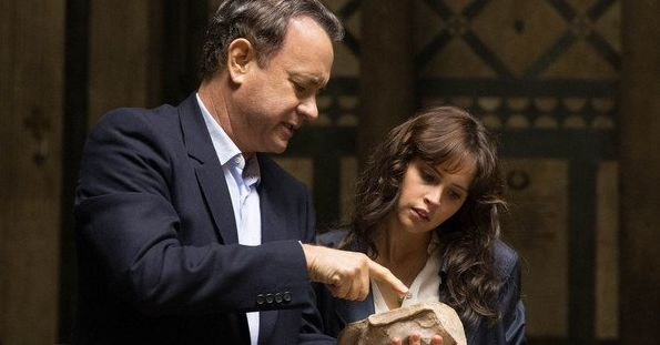 "Tom Hanks and Felicity Jones in ""Inferno"""