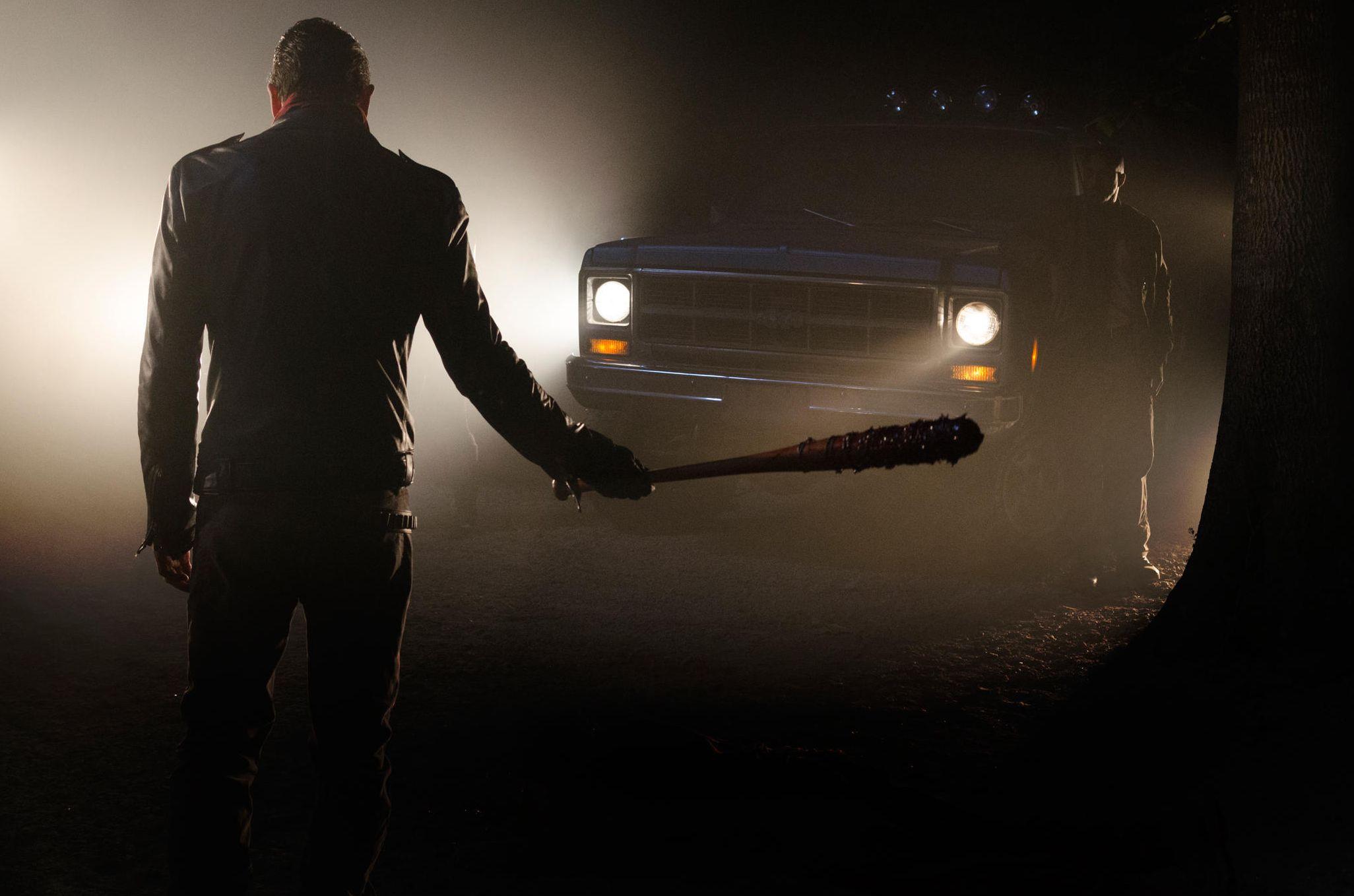 Negan, played by Jeffrey Dean Morgan