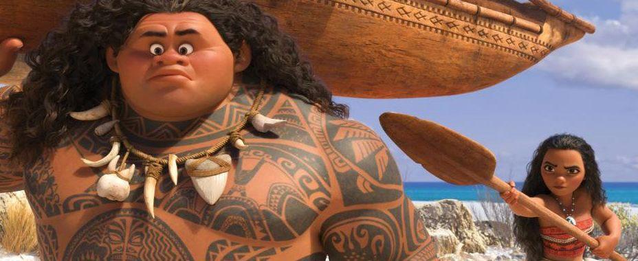 "Maui (Dwayne Johnson) and Moana (Auli'i Cravalho) in ""Moana"""