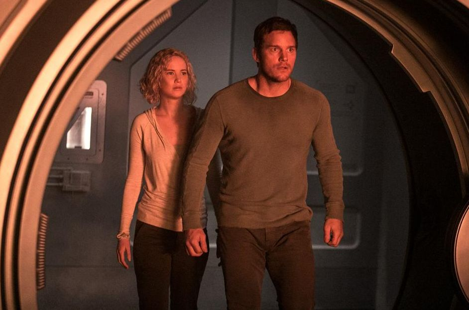"Jennifer Lawrence and Chris Pratt in ""Passengers"""