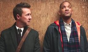 "Edward Norton and Will Smith in ""Collateral Beauty"""