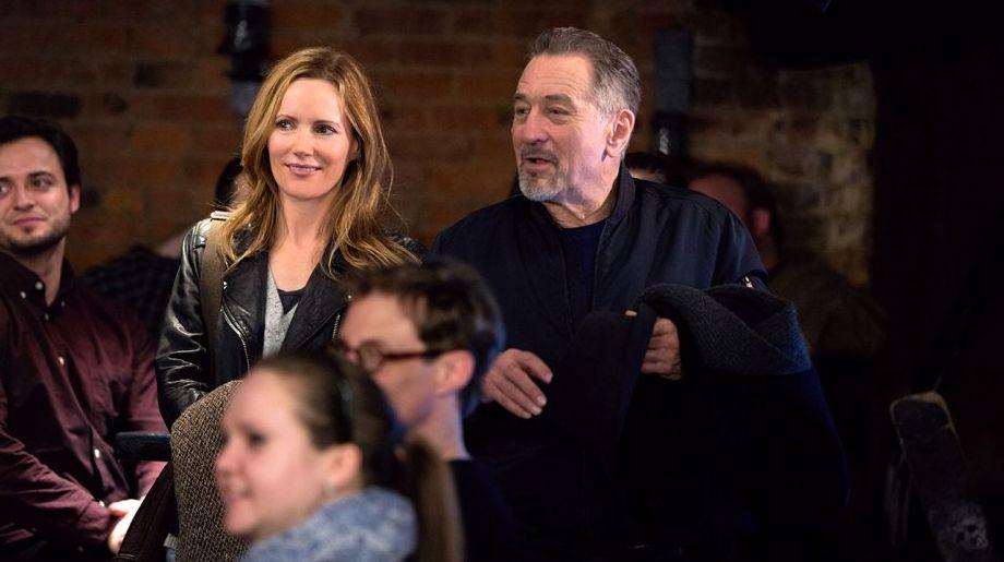 """Leslie Mann and Robert De Niro in """"The Comedian"""""""