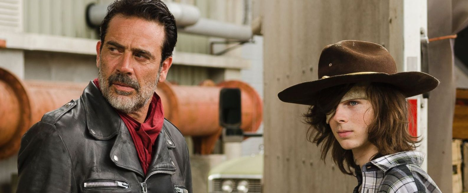 Carl and Negan
