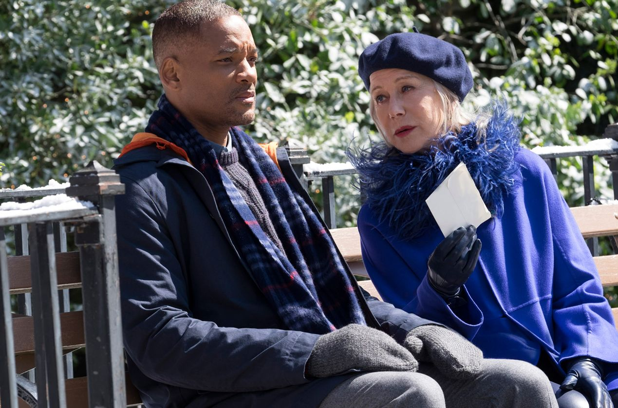 "Will Smith and Helen Mirren in ""Collateral Beauty"""