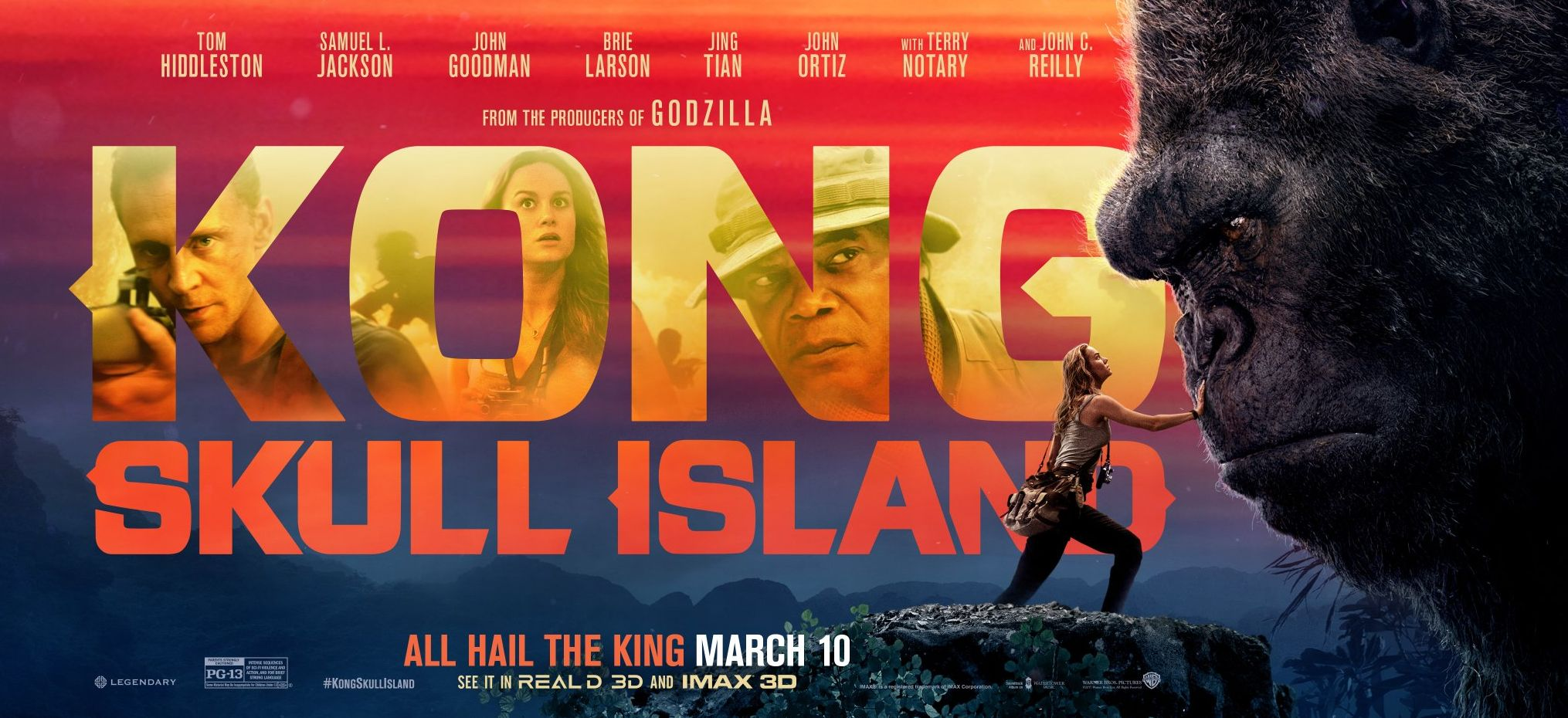 Brie Larson meets the King himself in a new banner for 'Kong