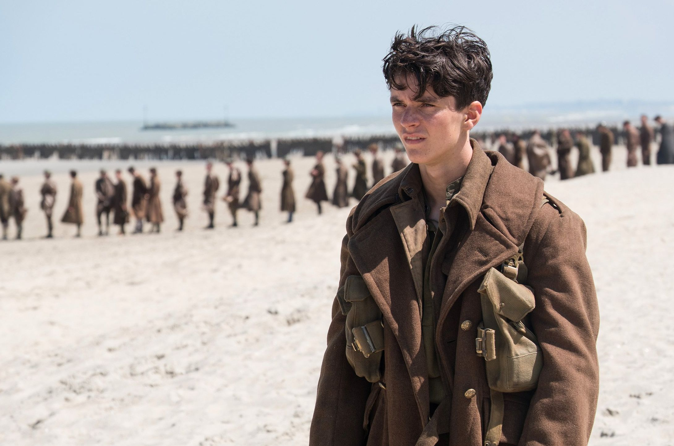 Fionn Whitehead looks on in a new image from Christopher Nol
