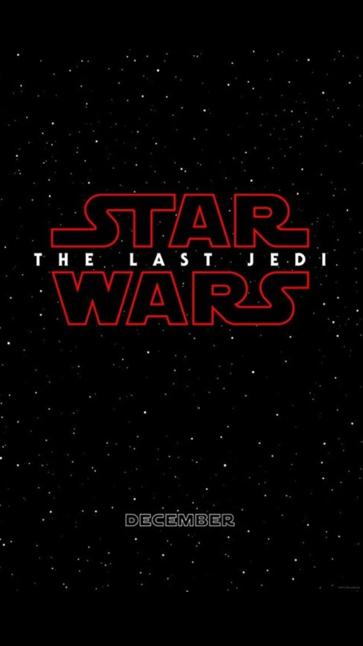 Star Wars: The Last Jedi coming in. December