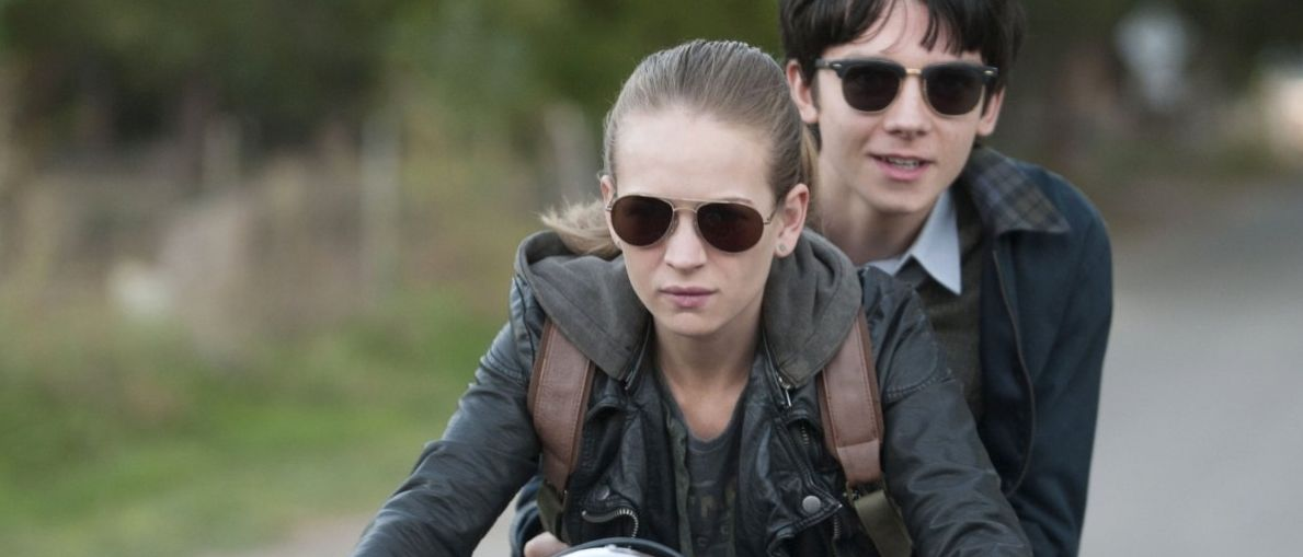 "Britt Robertson and Asa Butterfield in ""The Space Between Us"""