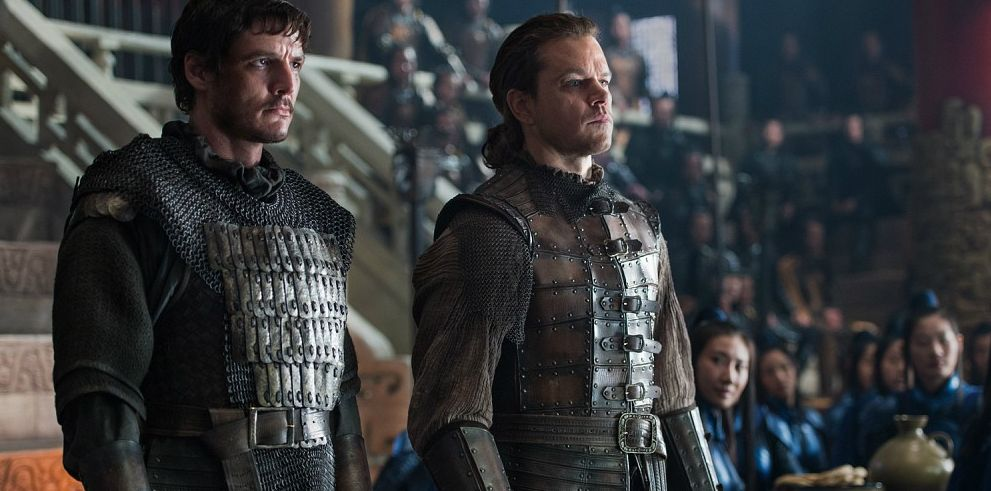 "Pedro Pascal (""Tovar"") and Matt Damon (""William"") in ""The Great Wall"""