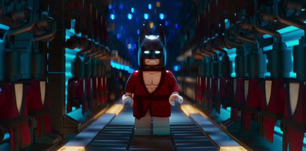 "Batman (voiced by Will Arnett) in ""The LEGO Batman Movie"""