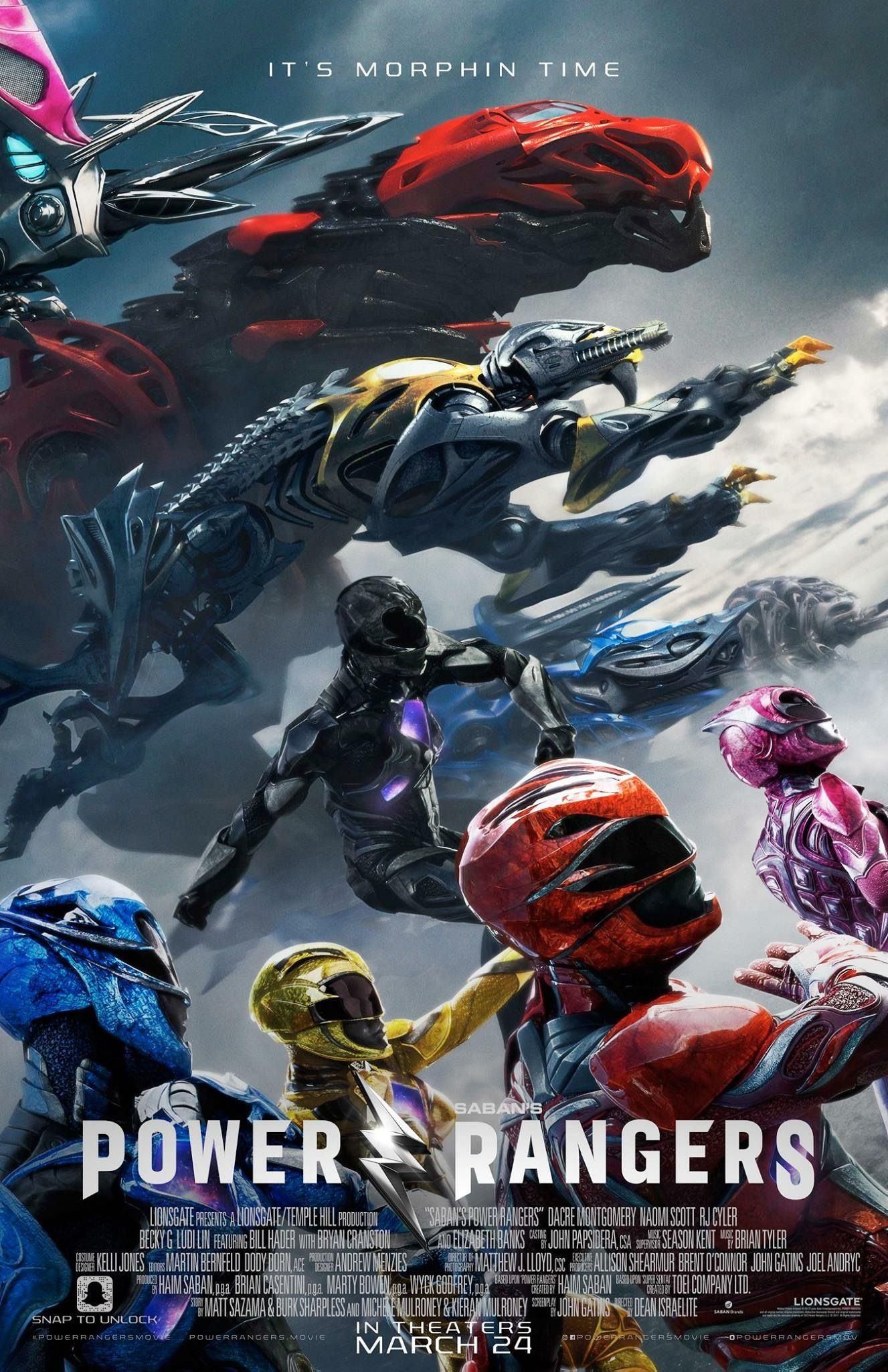 Final poster for Power Rangers