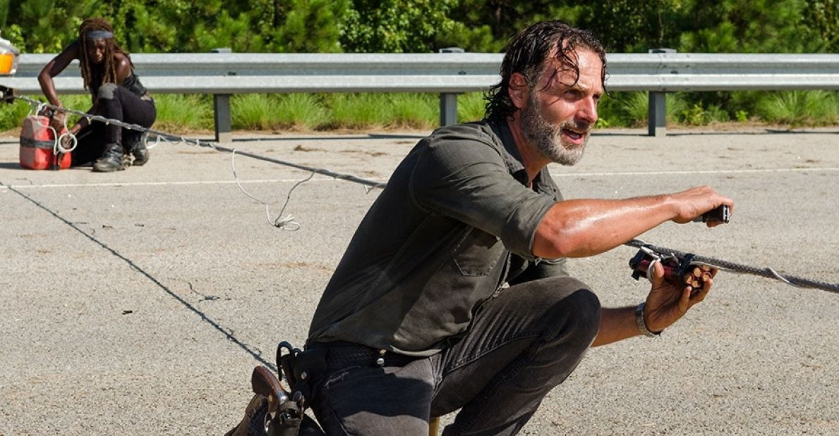 Andrew Lincoln as Rick Grimes, S07E09