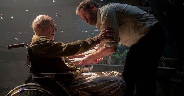 "Patrick Stewart and Hugh Jackman in ""Logan"""