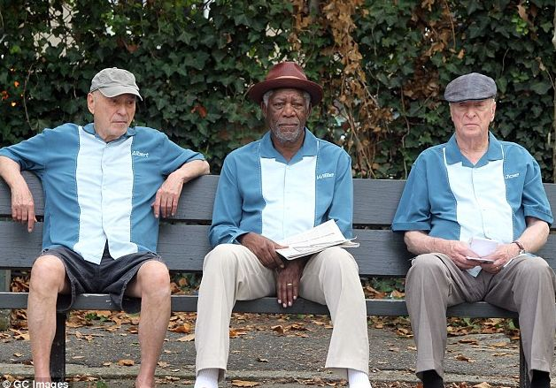 "Alan Arkin, Morgan Freeman and Michael Caine in ""Going in Style"""