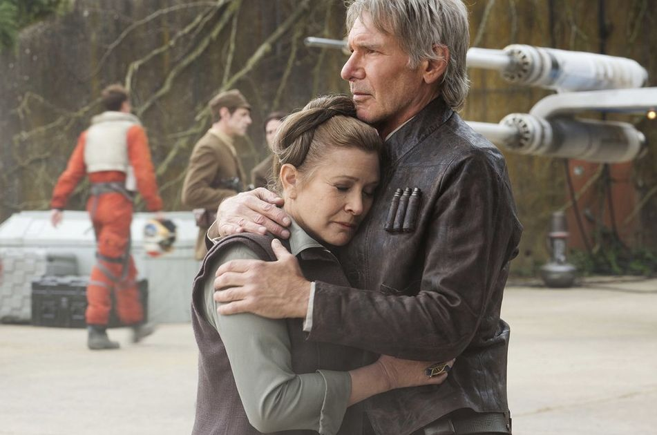 Princess Leia and Han Solo