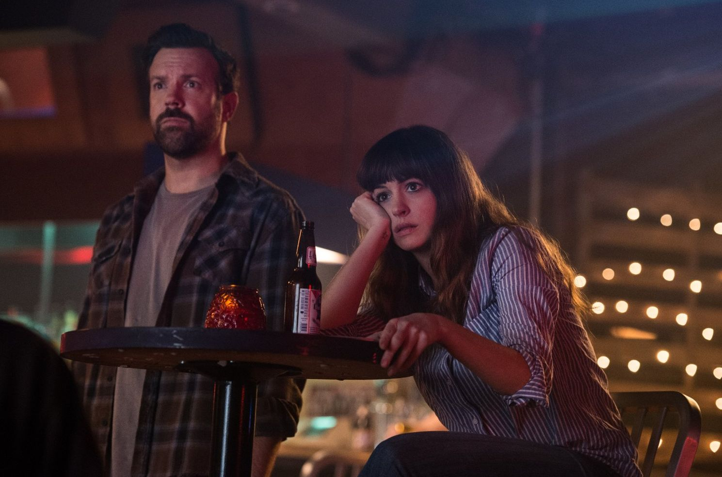 "Jason Sudeikis and Anne Hathaway in ""Colossal"""