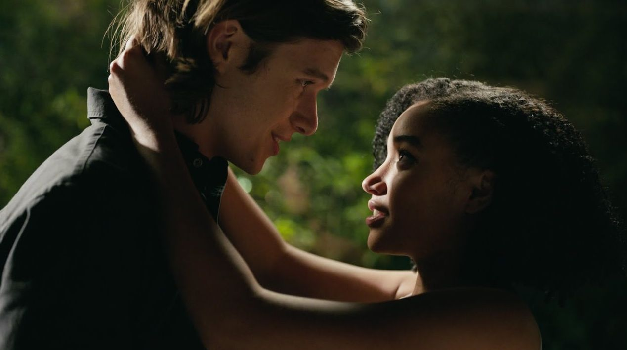 "Nick Robinson and Amandla Stenberg in ""Everything, Everything."""