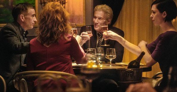 "Steve Coogan, Laura Linney, Richard Gere and Rebecca Hall in ""The Dinner"""