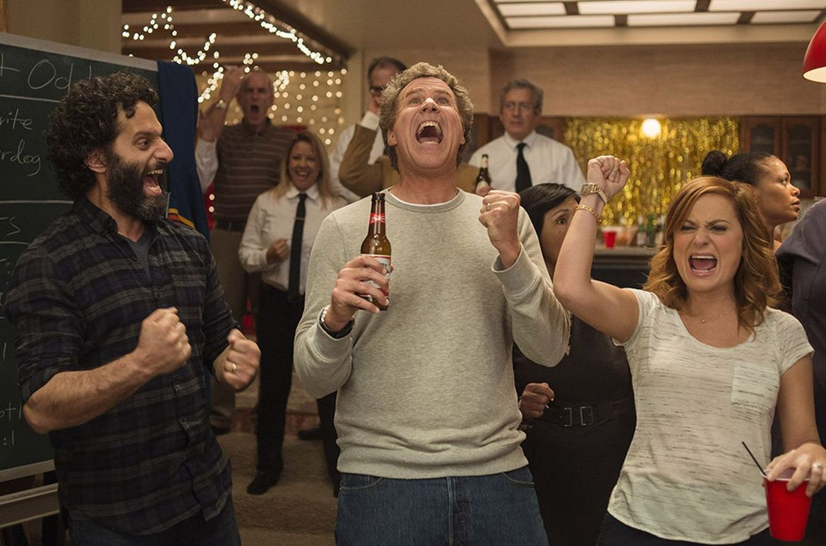 """Jason Mantzoukas, Will Ferrell and Amy Poehler in """"The House"""""""