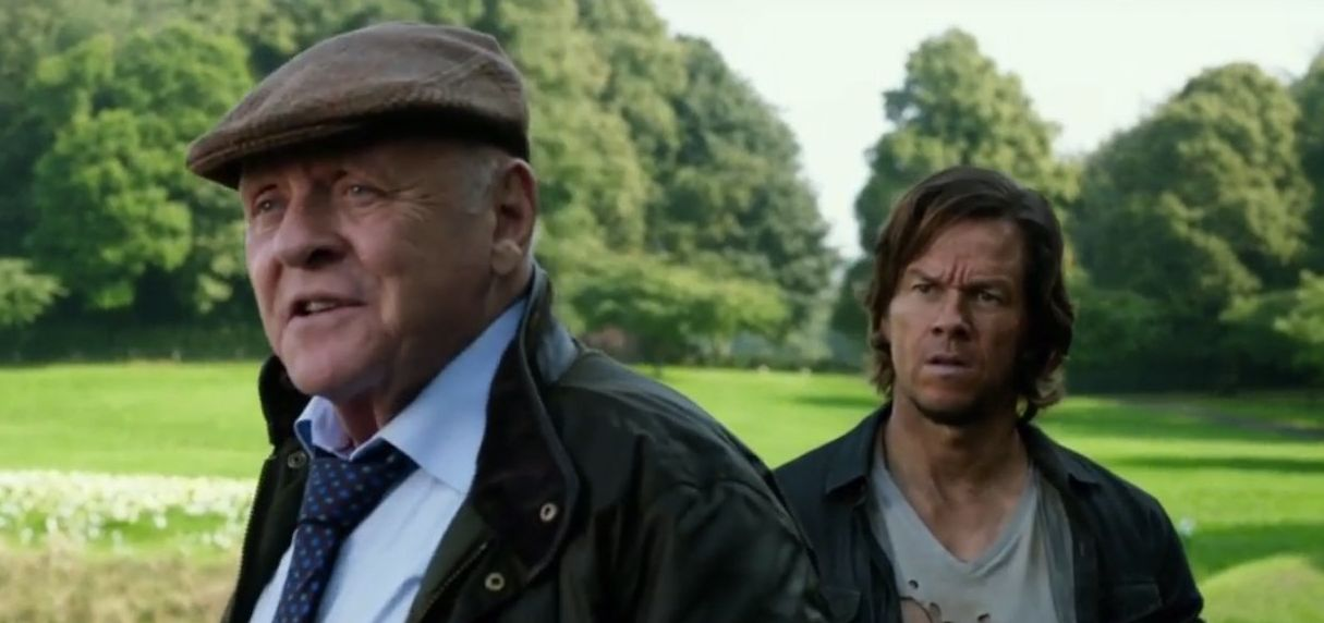 "Anthony Hopkins and Mark Wahlberg in ""Transformers: The Last Knight"""