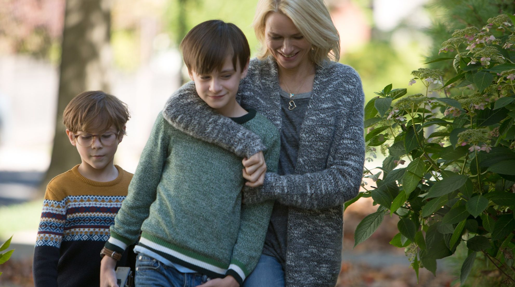 "Jacob Tremblay, Jaeden Lieberher and Naomi Watts in ""The Book of Henry"""