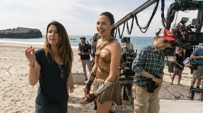 Patty Jenkins and Gal Gadot - Courtesy Warner Bros. Pictures