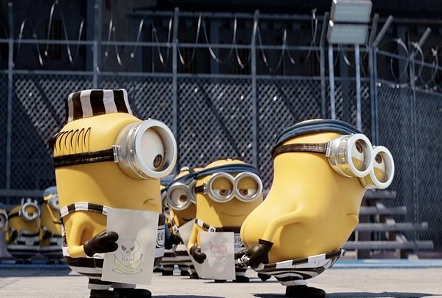 "The Minions, adjusting to prison life, in ""Despicable Me 3"""