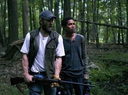 "Joel Edgerton and Kelvin Harrison, Jr. in ""It Comes At Night"""