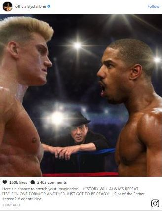 """Officialslystallone teases """"Creed 2"""""""