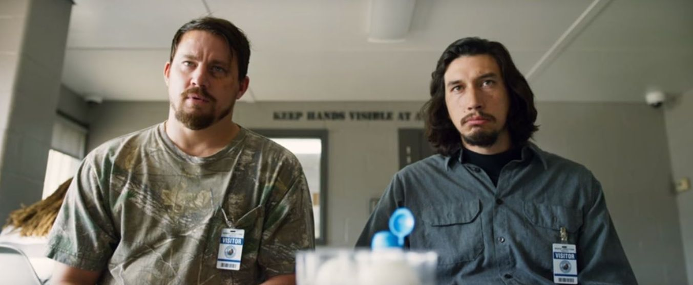 """Channing Tatum and Adam Driver as Lucky brothers """"Jimmy"""" and"""