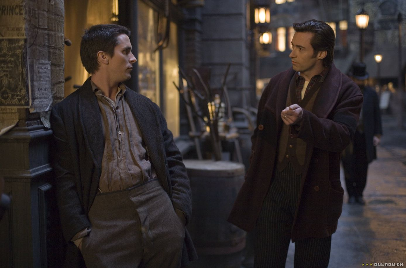 Christian Bale and Hugh Jackman in The Prestige