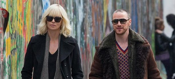 "Charlize Theron and James McAvoy in ""Atomic Blonde"""