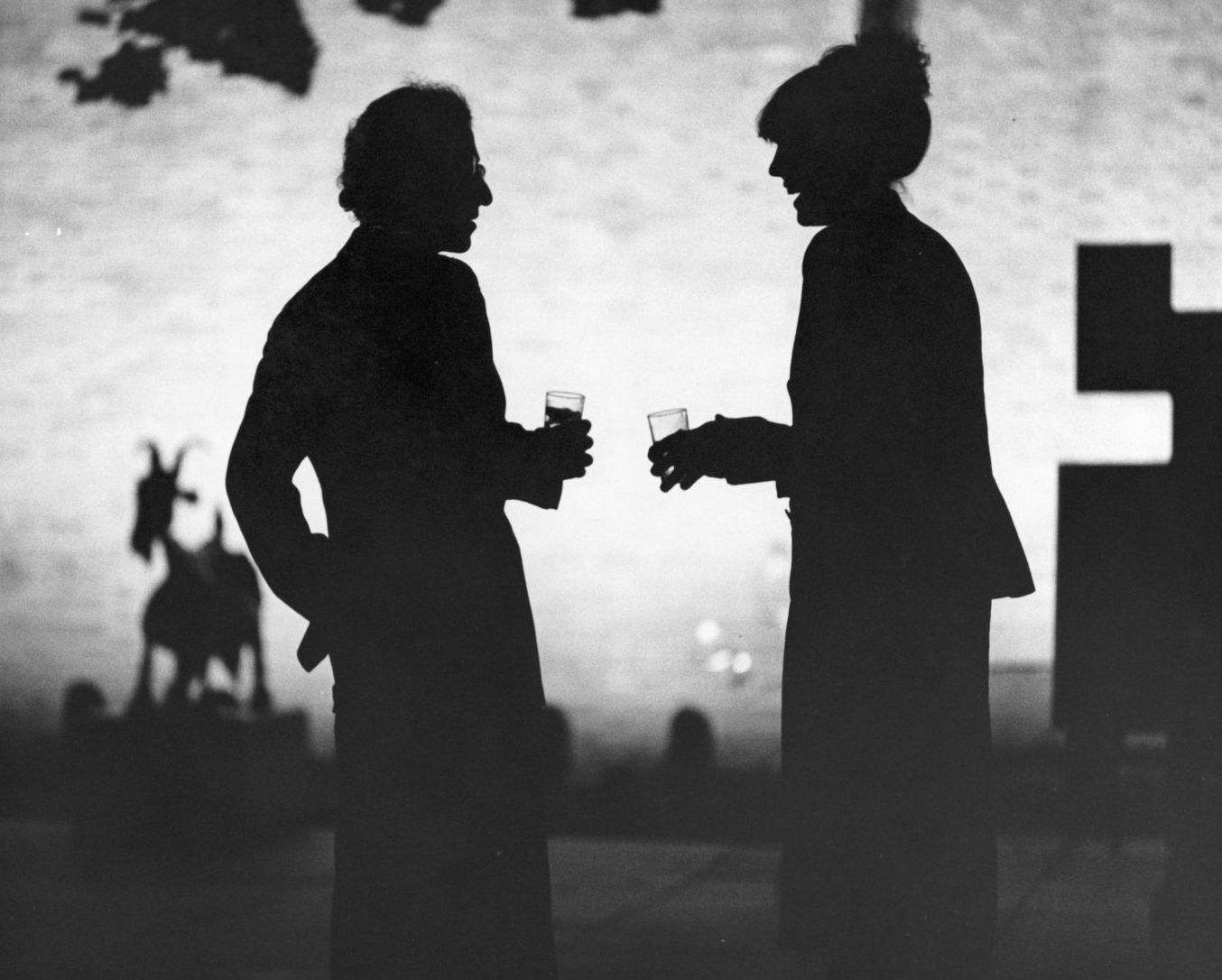 Woody Allen and Diane Keaton in Manhattan