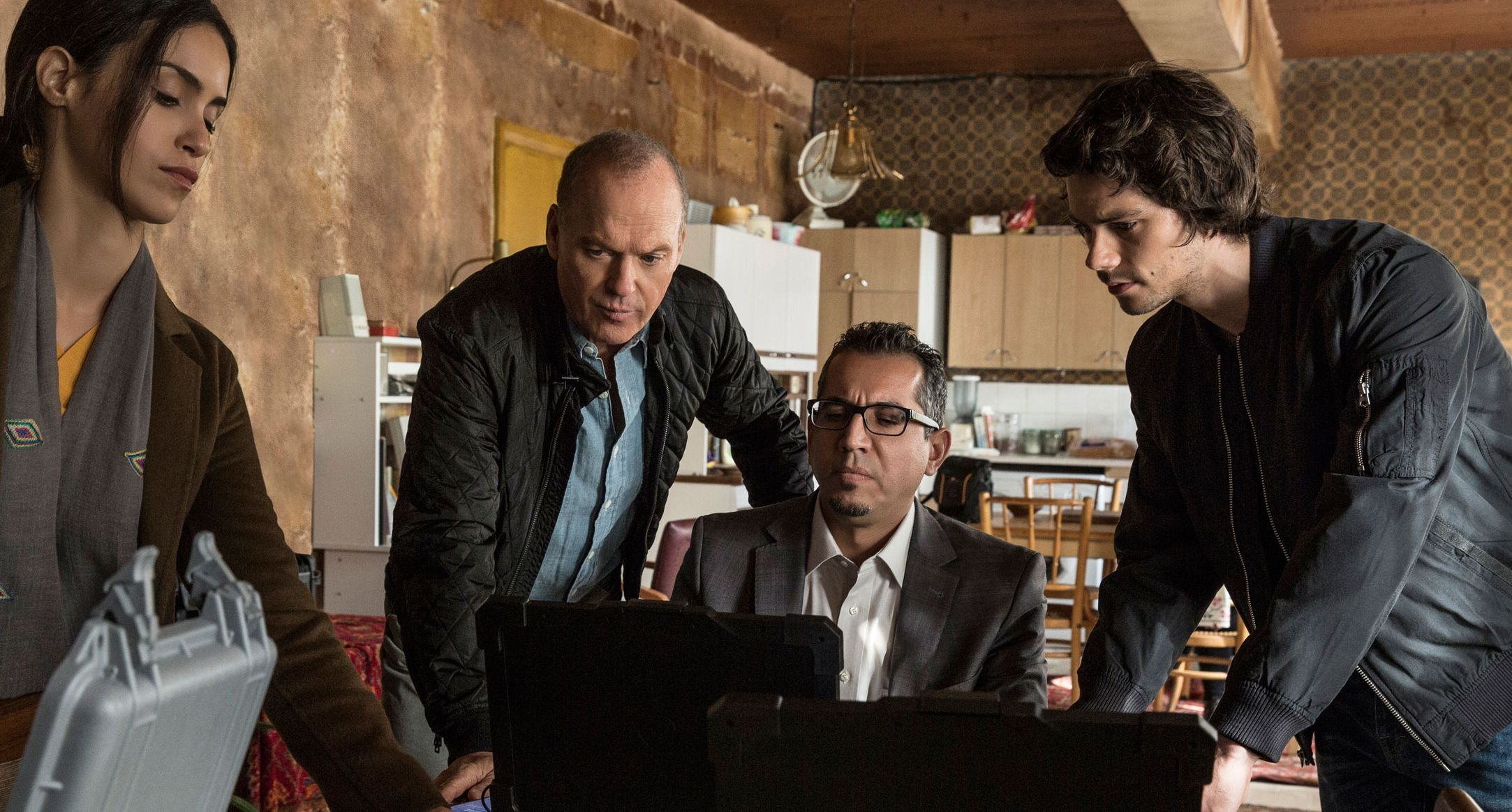 """Michael Keaton and Dylan O'Brien in """"American Assassin"""""""