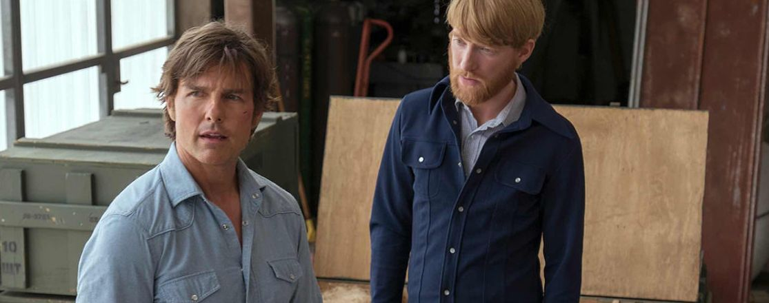 "Tom Cruise and Domhnall Gleeson in ""American Made"""