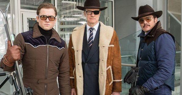 "Taron Egerton, Colin Firth and Pedro Pascal in ""Kingsman: The Golden Circle"""
