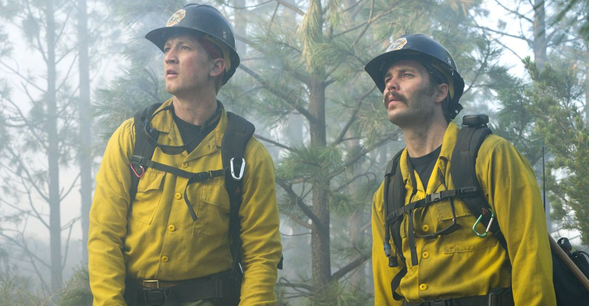 "Miles Teller and Taylor Kitsch in ""Only the Brave"""