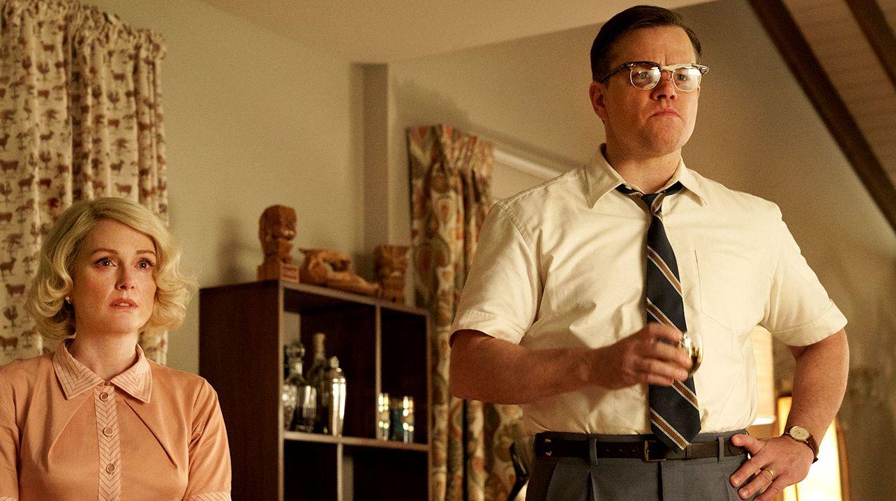 "Julianne Moore and Matt Damon in ""Suburbicon"""