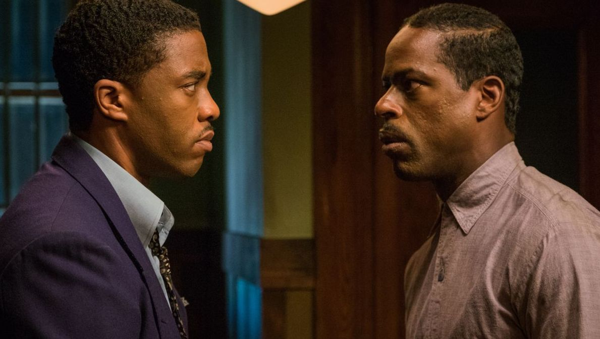 Chadwick Boseman and Sterling K. Brown
