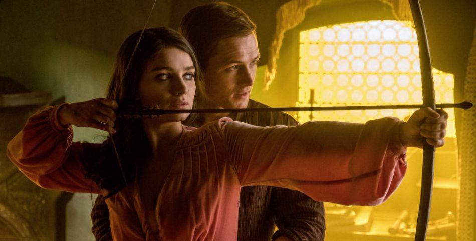 'Robin Hood' - Maid Marion (Eve Hewson) and Robin (Taron Ege