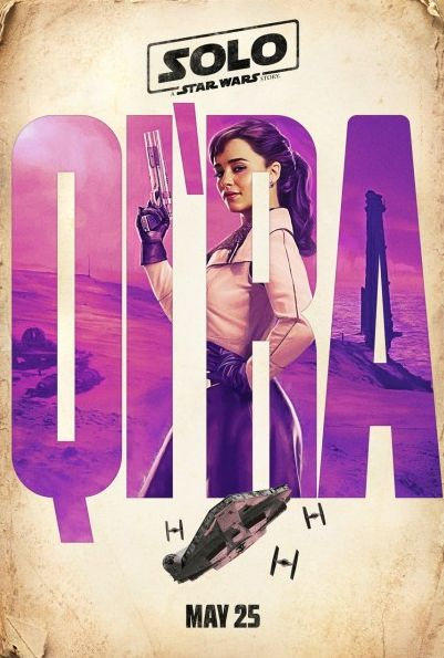 First look at Emilia Clarke as Qi'ra.