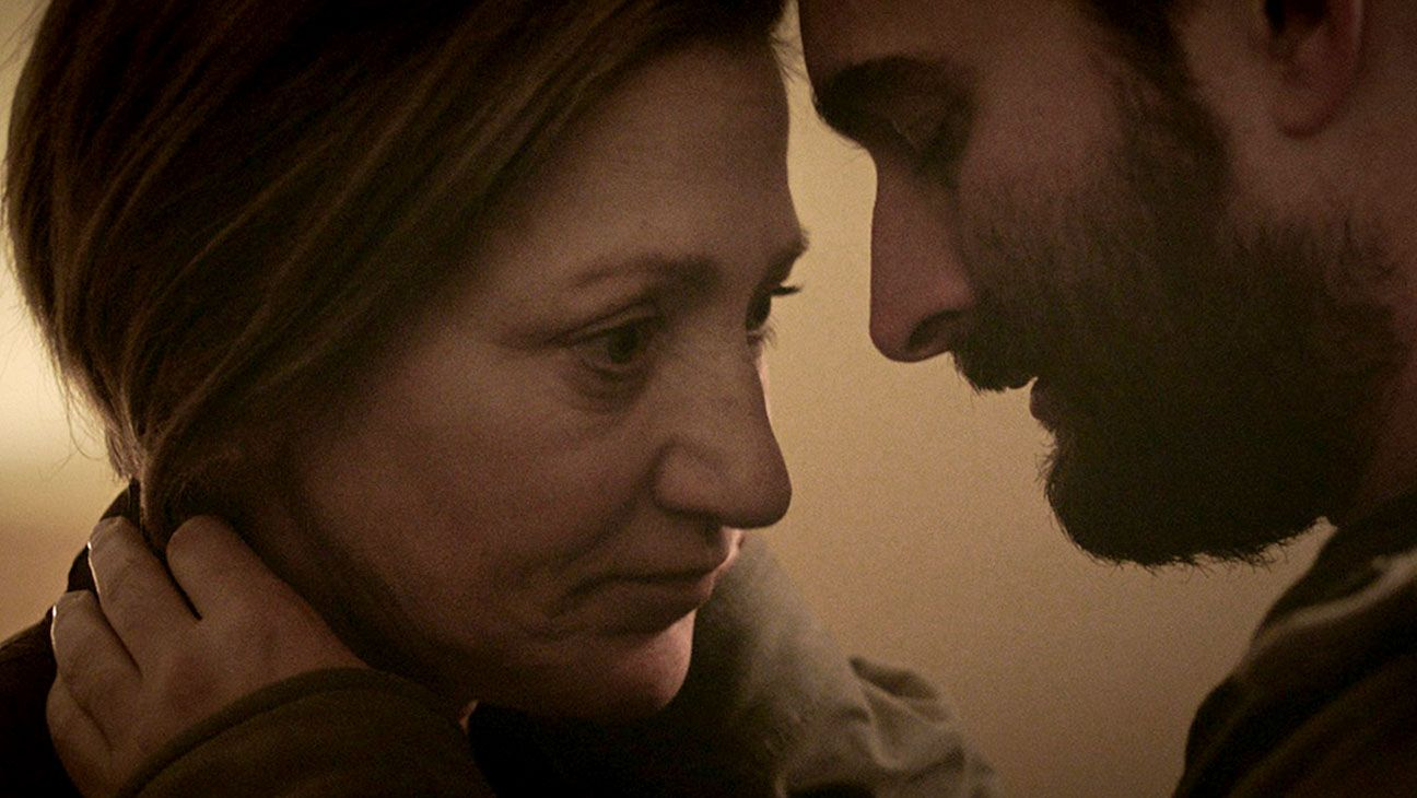 Edie Falco and Jay Duplass