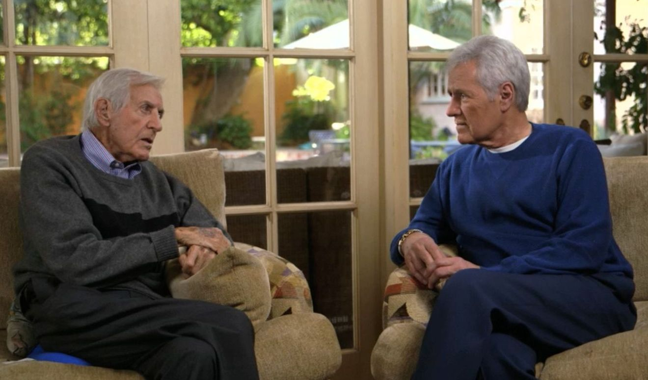 The late Monty Hall and Alex Trebek