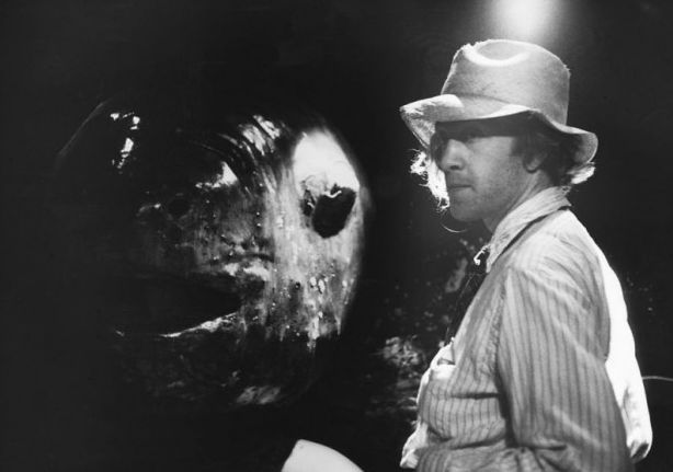 """David Lynch on the set of Eraserhead with """"Spike"""""""