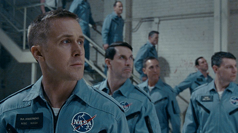 Ryan Gosling and 'First Man' cast members