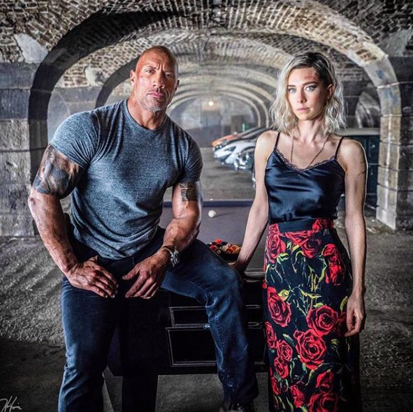 Hattie floral midi skirt hobbs and shaw movie outfits